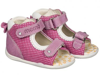 MEMO babacipő - MINI;rózsaszín;18