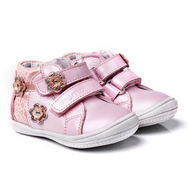 MEMO babacipő - BELLA;rózsaszín